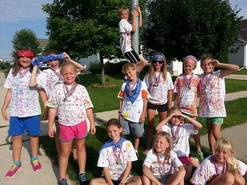 "This group of kids organized a ""Neighborhood Olympics,"" in Marion, Iowa"