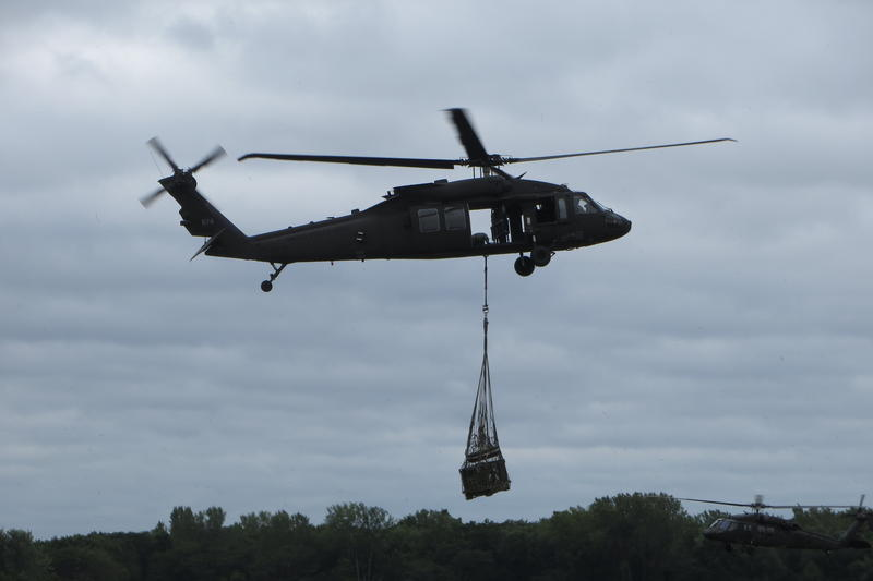 One of Boone's ultra-advanced Black Hawk helicopters (Mike model).