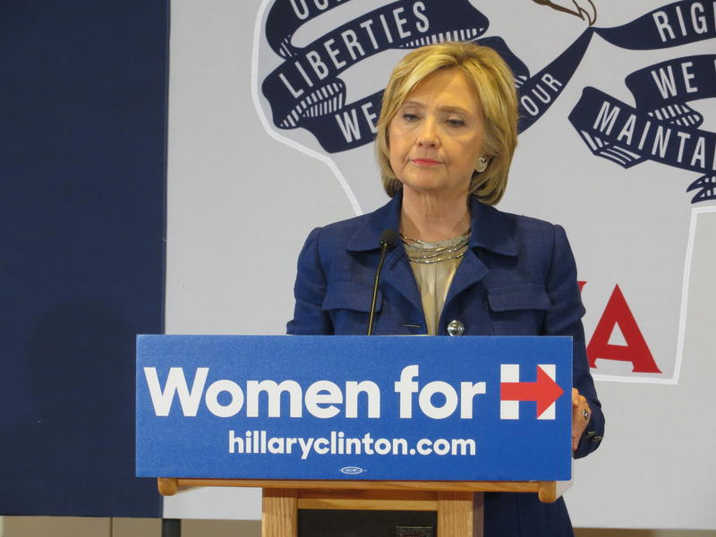Democratic Presidential Candidate Hillary Clinton at UNI on Monday.