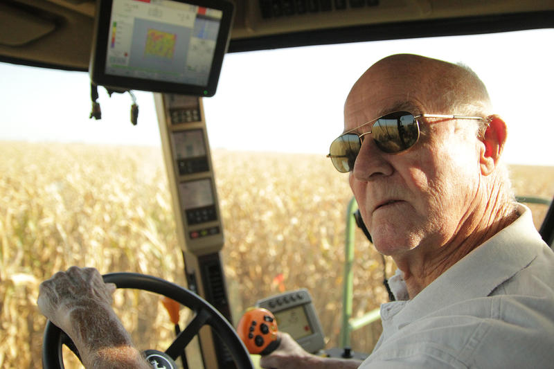 When 82-year-old Roger Kelso was a kid, his family harvested corn with the help of a team of horses. Now, he can mow through 12 rows of corn at a time with his John Deere combine.