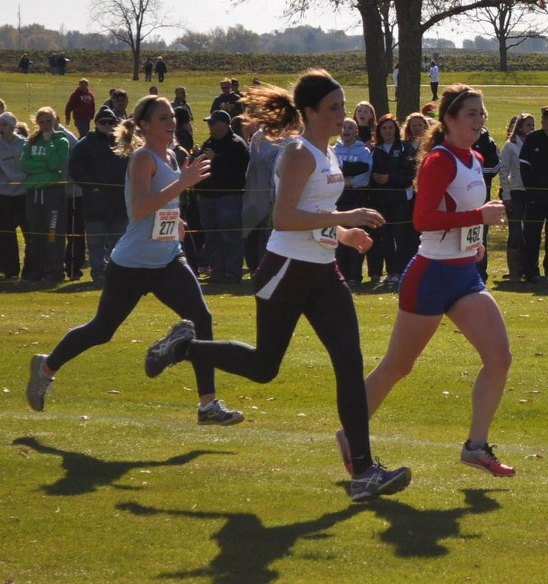 runners compete in the 2013 girl's state cross country meet