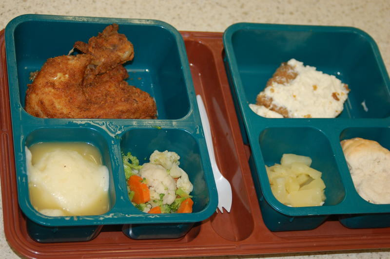A typical lunch at the Iowa State Penitentiary