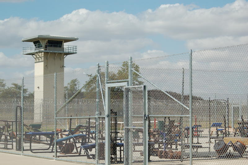 The indoor and outdoor recreation areas are available to certain offenders, based on their tier