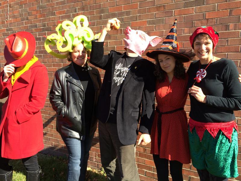 The Iowa Public Radio talk staff on Halloween 2014