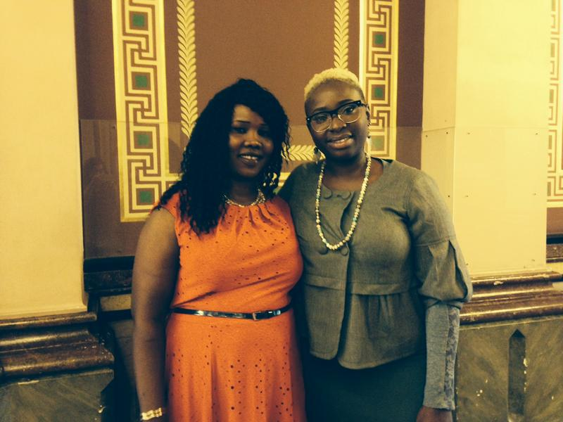 Achan Agit (left) and Aicheria Bell are sueing the Iowa Board of Cosmetology Arts and Sciences for requiring them to obstain a cosmetology license in order to braid hair professionally.