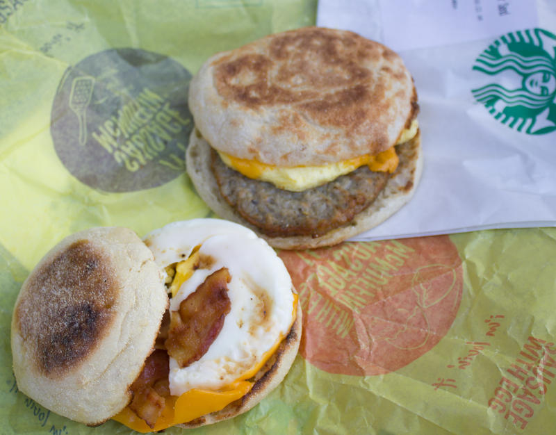 Starbucks and McDonald's have both committed to making egg sandwiches and other fare from eggs laid by hens that live in cage-free environments.