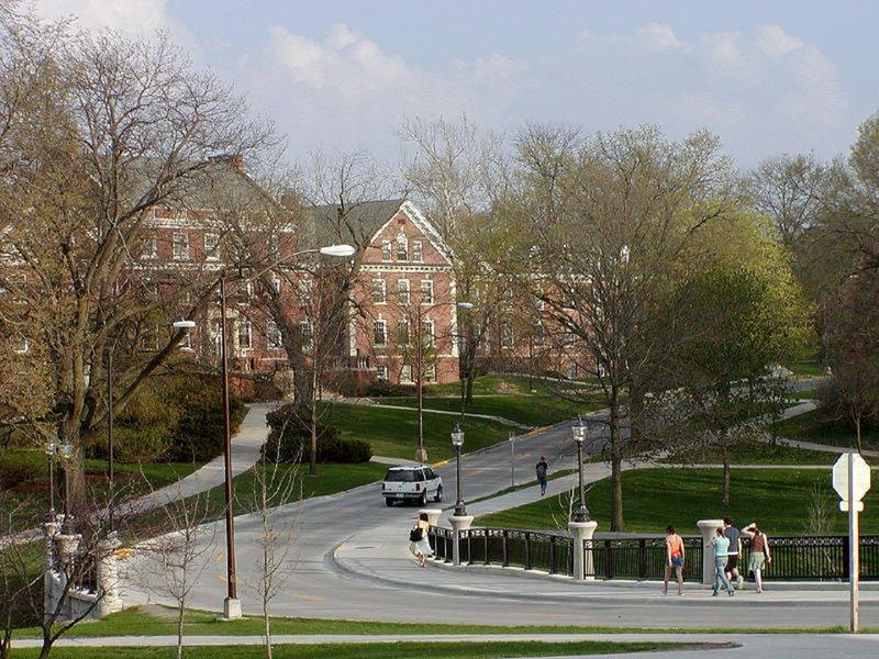 Roberts Residence Hall and Union Drive, Iowa State University