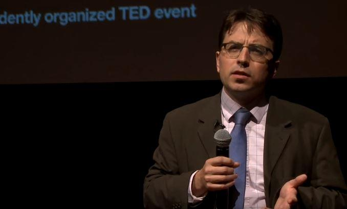 Scott Samuelson giving a TED talk