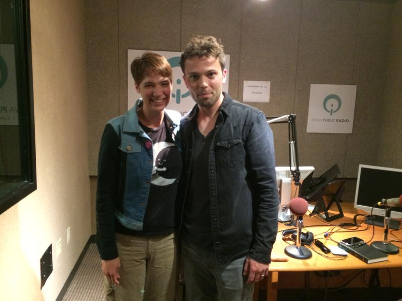 Charity Nebbe in studio with magician Nate Staniforth