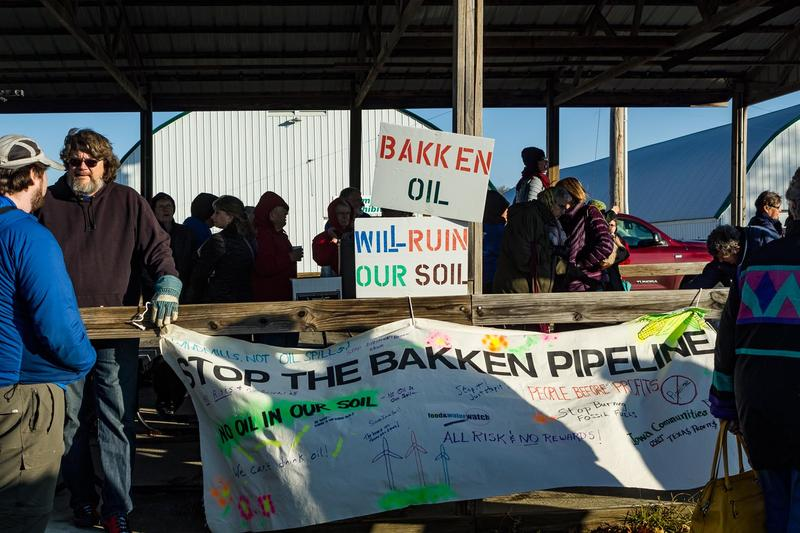 Protestors object to the Bakken pipeline for environmental, political and other reasons.