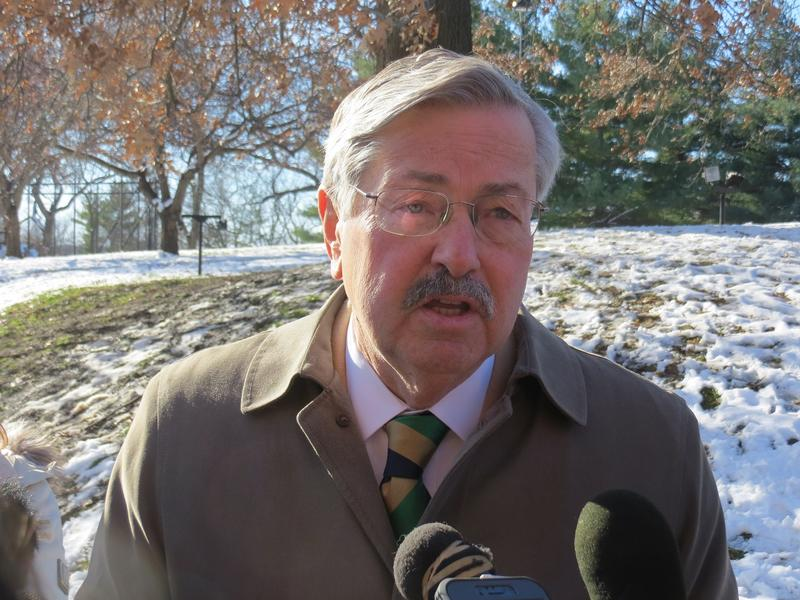 Iowa Governor Terry Branstad on the grounds at Terrace Hill