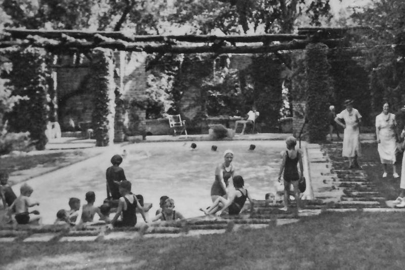 A pool party in 1937.