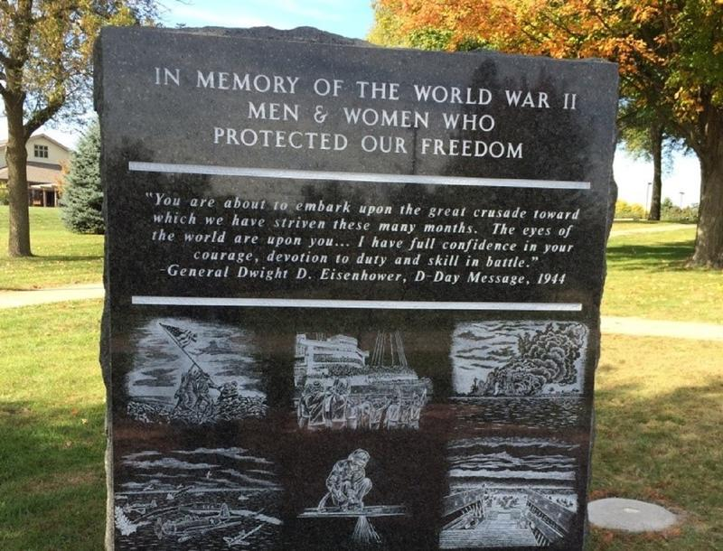 WWII Memorial on the grounds of the Iowa Veterans Home in Marshalltown