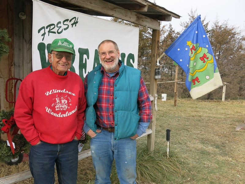 Father and son John and Jerry Windsor run a small U-cut Christmas tree farm in Windsor, Colorado.