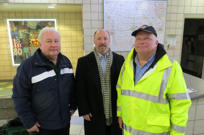 DOT officials (l to r): Steve Mc Menamin, Phil Mescher and Dennis Mabie.