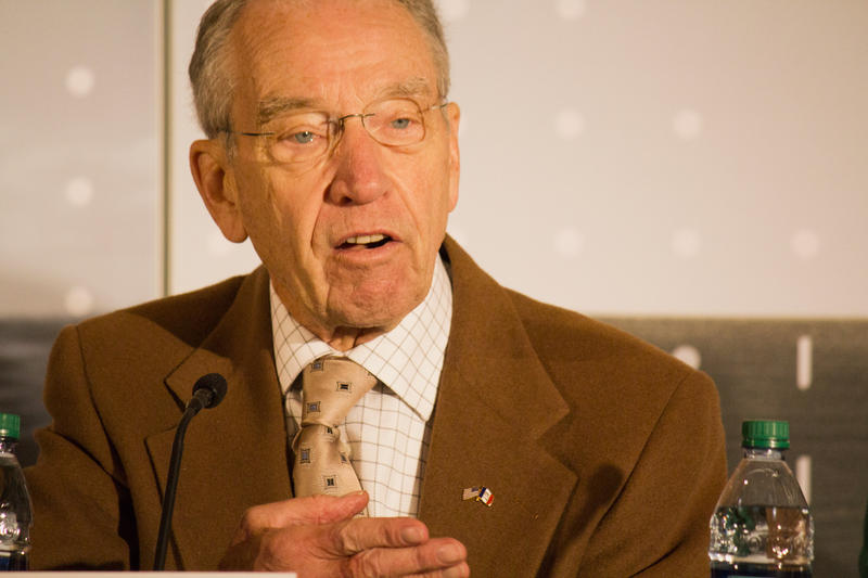 Sen. Chuck Grassley, pictured at the opening of a cellulosic ethanol plant in Nevada, Iowa on Oct. 30, 2015, finds the new RFS mandates unfortunate for Iowa.