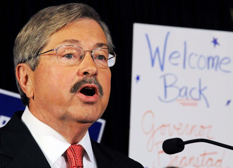 Governor Terry Branstad at 2010 victory rally