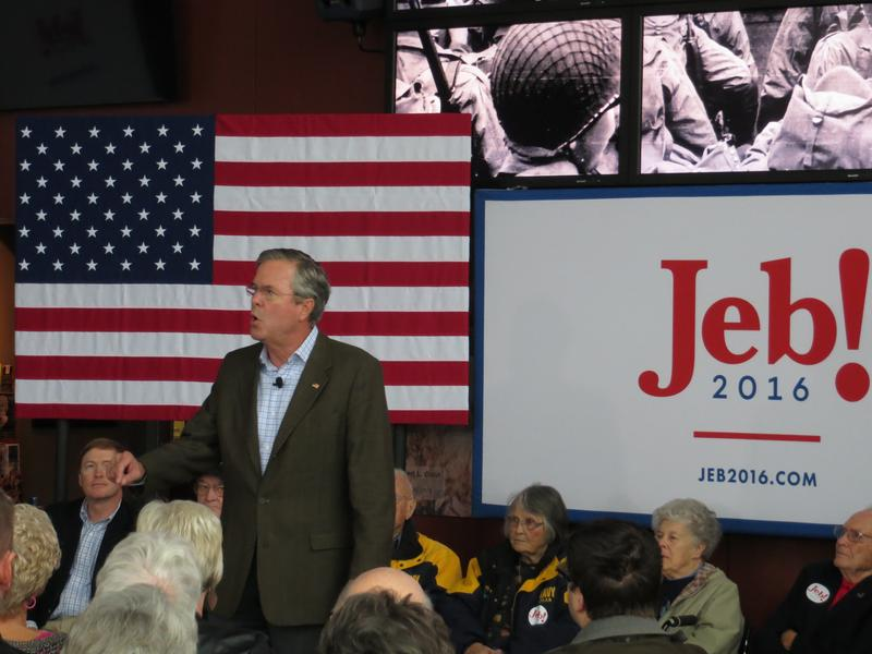Bush at the Sullivan Brothers Iowa Veterans Museum in Waterloo.
