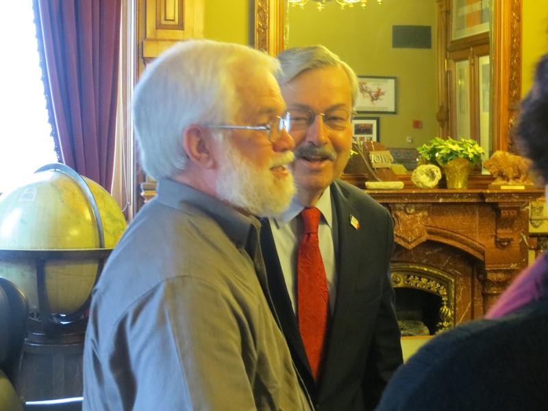 Governor Branstad with childhood friend Chuck Haaland