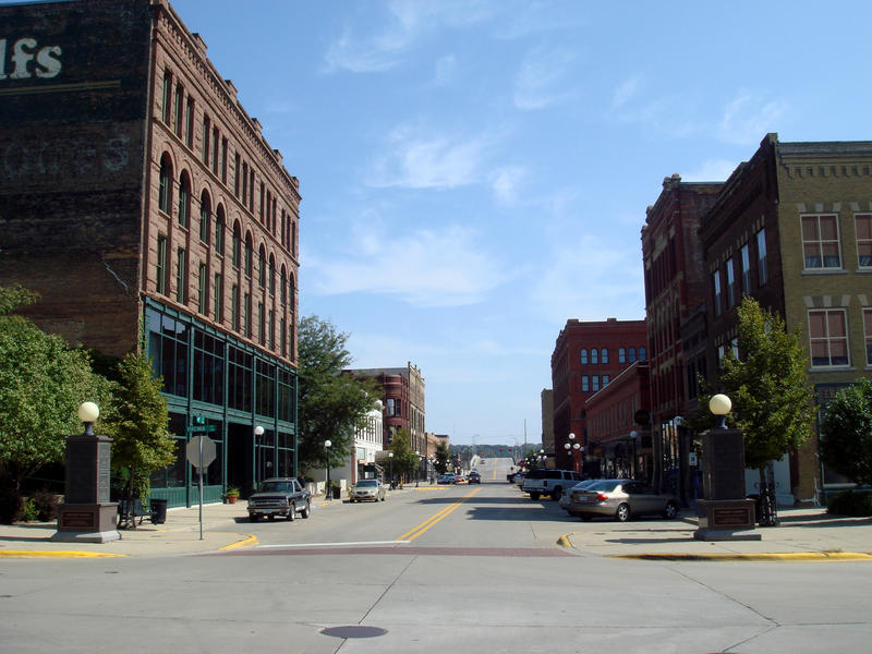 Downtown Sioux City.
