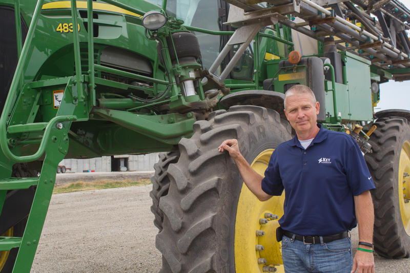 Boyd Brodie of Key Cooperative in Roland hopes exchanging equipment with other owners will help him better meet the needs of local farmers while also recouping some of Key's investment in expensive machinery