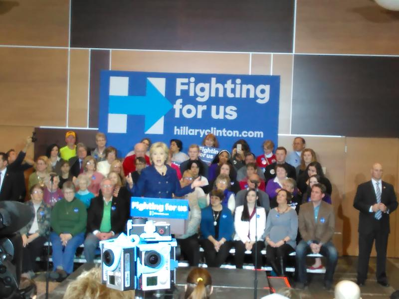 Hillary Clinton stumps at Simpson College in Indianola on Jan. 21, 2016.