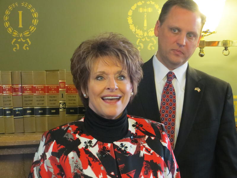 Speaker of the Iowa House Linda Upmeyer and House Majority Leader Chris Hagenow