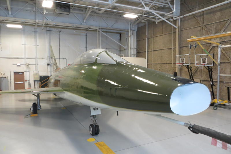 The F-100 Super Sabre was manufactured by North American Aviation.