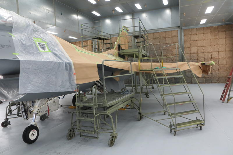An F-16 Falcon can be painted in two weeks.