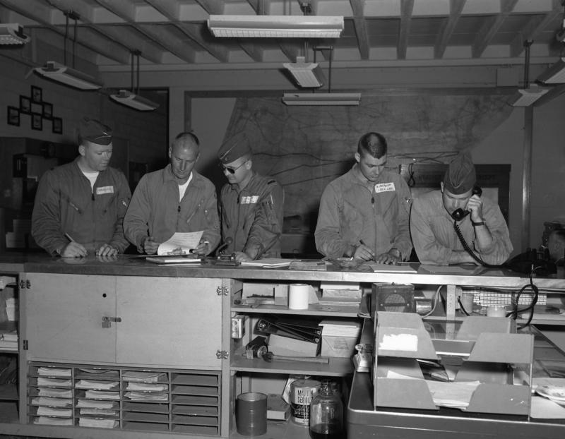 The air wing's operations center in 1961.
