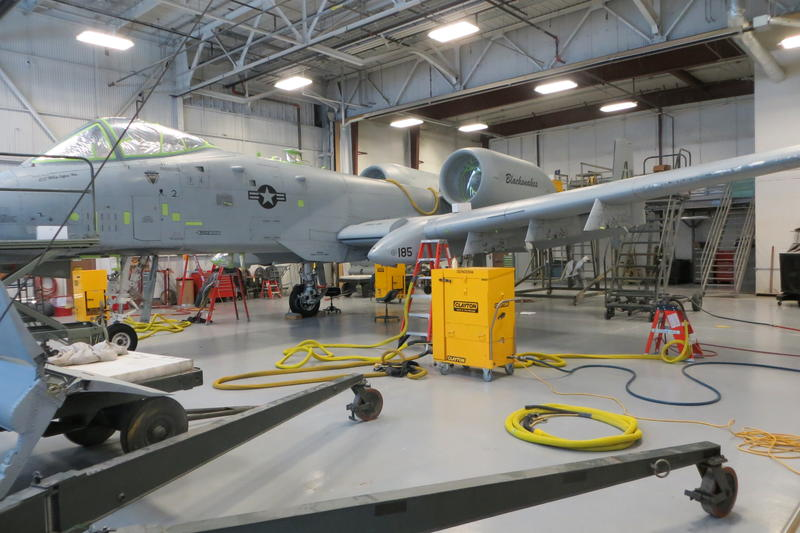 It takes one month to prep and paint an A-10.