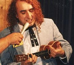 Tiny Tim performing at an event in Tennessee in the late 1980s