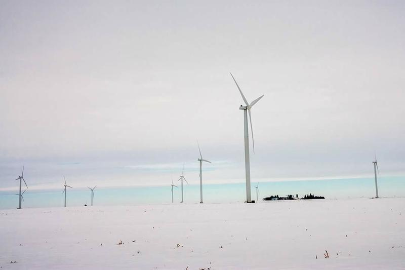 Wind turbines near Geneva, IA