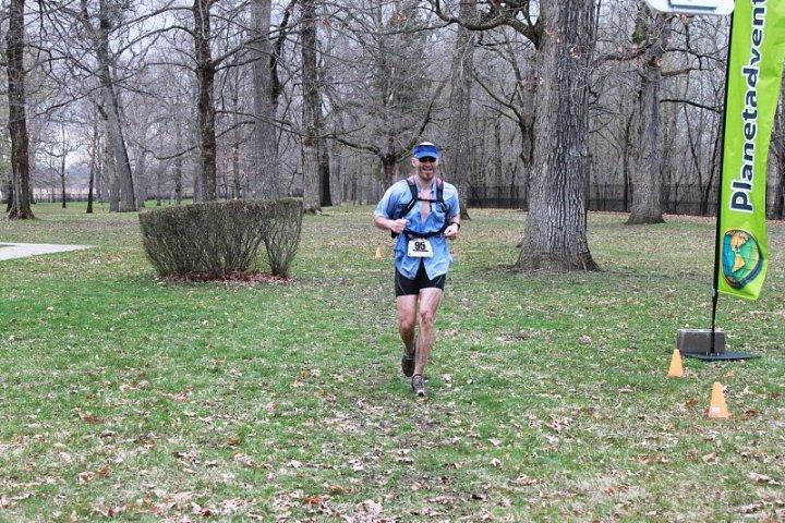 Steve Cannon finishes a marathon