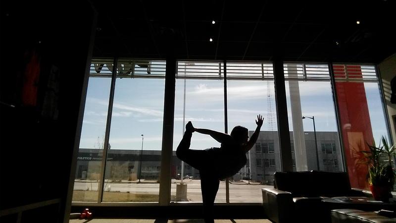Jamie Burch Elliott poses in 'dancer' in Des Moines