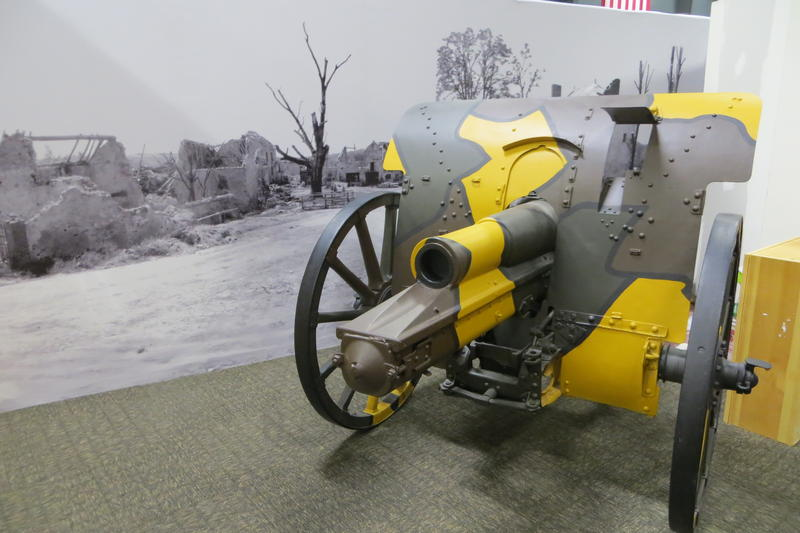 A 1915 German howitzer field cannon brought back from WW1 as a souvenir.
