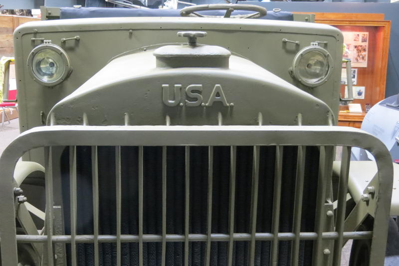 The grill of a Liberty truck in the new WW1 exhibit opening soon at Camp Dodge.