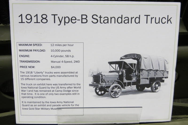 A fact sheet on the museum's prized Liberty truck.