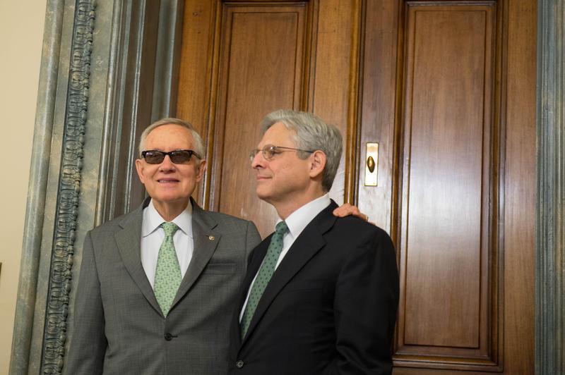 Senator Harry Reid met with Judge Merrick Garland Thursday.