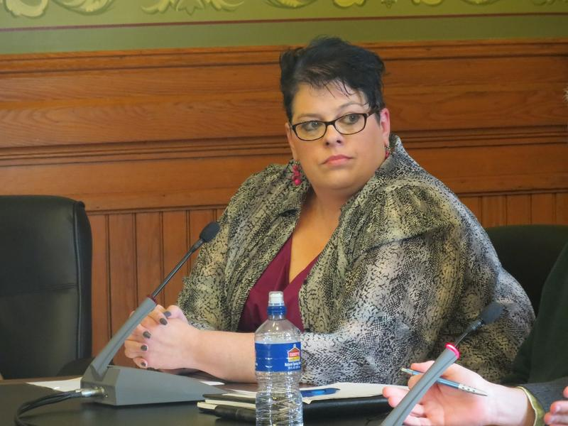 Mental Health Advocate Rhonda Shouse.   She testified before the Iowa Senate Oversight Committee which is considering protections for patients under Medicaid privatization.