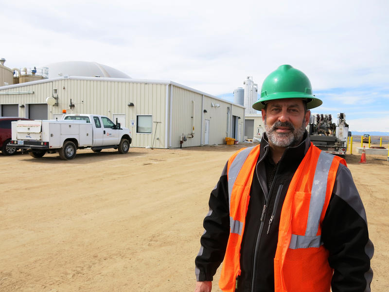 Scott Pexton works with A1 Organics, which runs the food waste portion of the methane digester project.