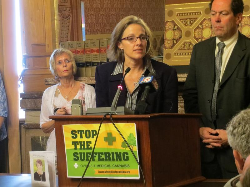 Medical Marijuana Activist Marie LaFrance at Statehouse News Conference