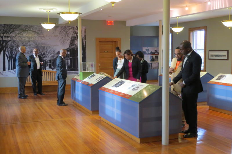 Alpha Phi Alpha members tour the museum in 2016.