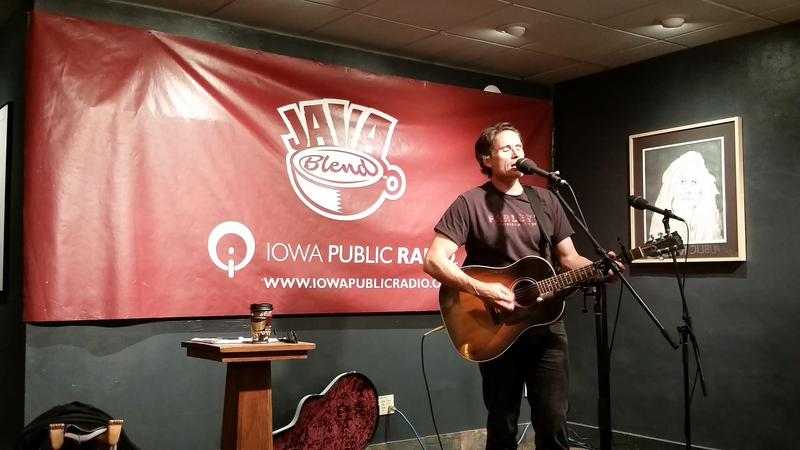Bob Hillman onstage at The Java House, downtown Iowa City