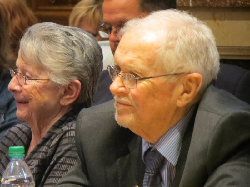 Sen. Dick Dearden (D-Des Moines) and his wife Sharon