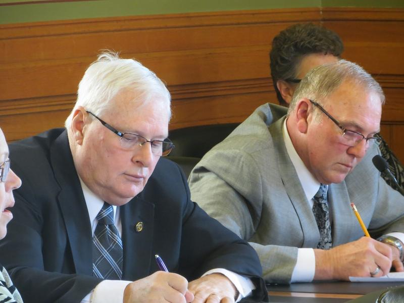 Sen. Brian Schoenjahn (D-Arlington) and Rep. Cecil Dolocheck (R-Mount Ayr), co-chairs of the Education Budget Subcommittee