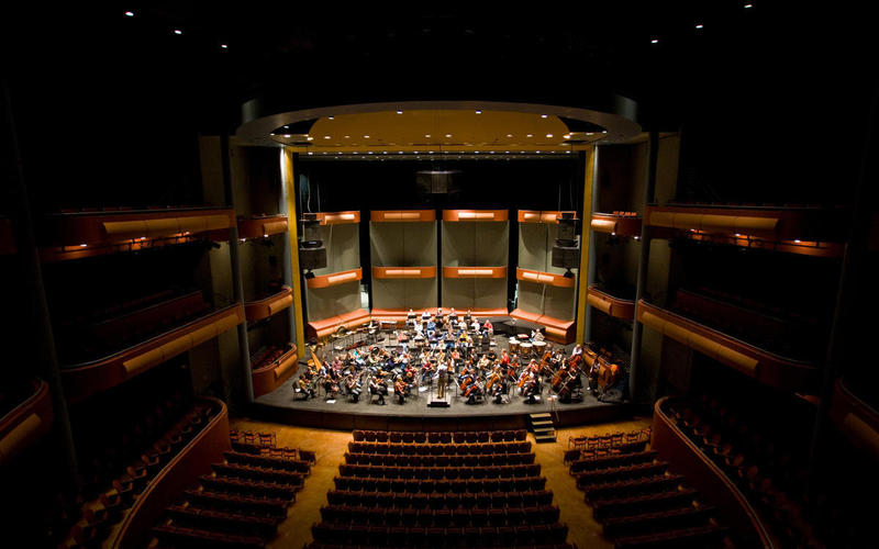 The wcfsymphony in the Gallagher-Bluedorn Performing Arts Center Great Hall