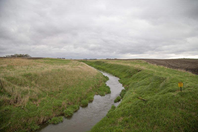 A drainage ditch in rural Sac County, Iowa.
