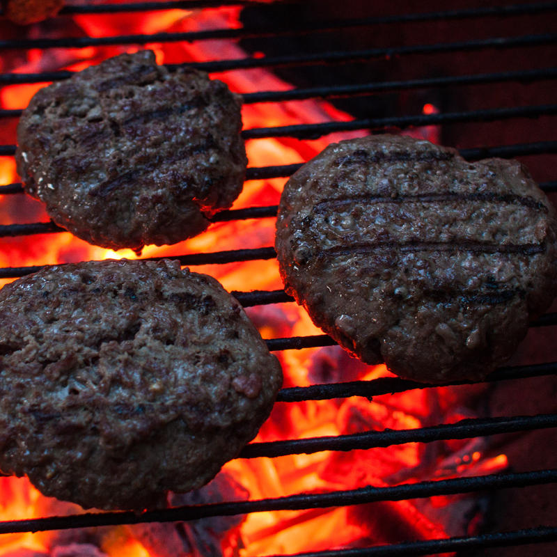 Burgers for the grill are a little cheaper now than a year ago.