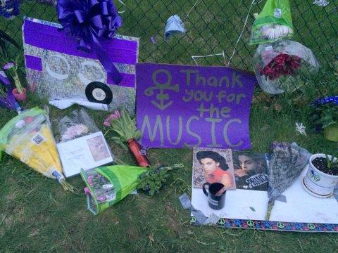 Fans have rushed to Paisley Park in the wake of Prince's death.